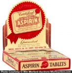 Certified Aspirin Tablets Display