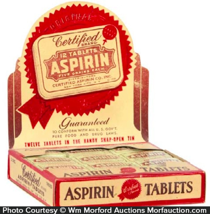 Certified Aspirin Tablets Display