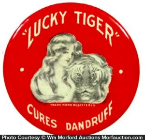 Lucky Tiger Dandruff Cure Mirror