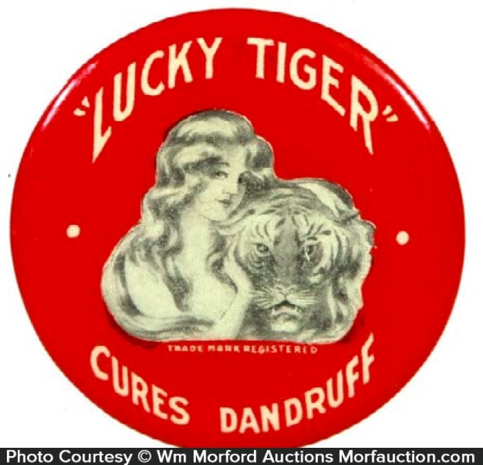Lucky Tiger Dandruff Cure Mirror