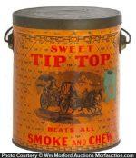 Sweet Tip Top Tobacco Pail