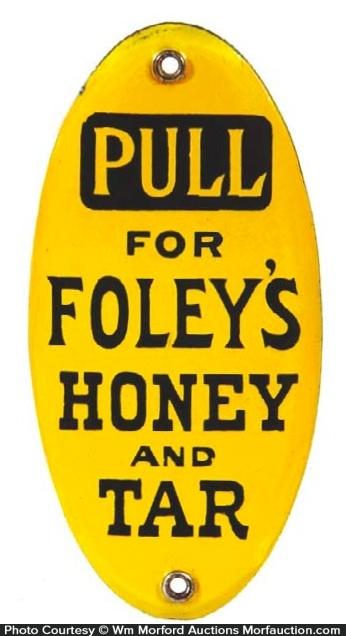 Foley's Honey and Tar Door Push
