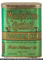 Manhattan Cocktail Tobacco Tin