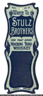 Mocking Bird Whiskey Match Scratcher