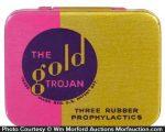 Gold Trojans Condom Tin