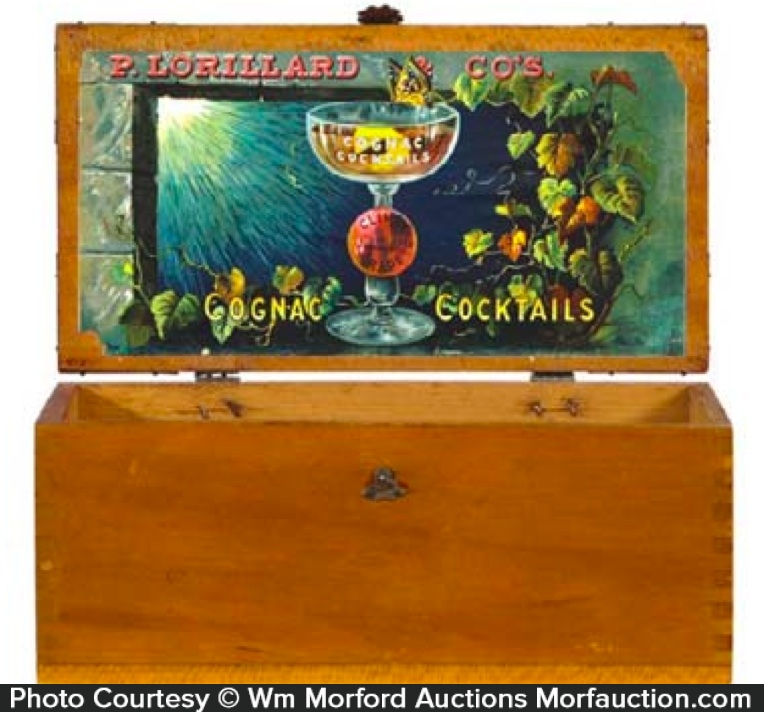 Lorillard Cognac Tobacco Box