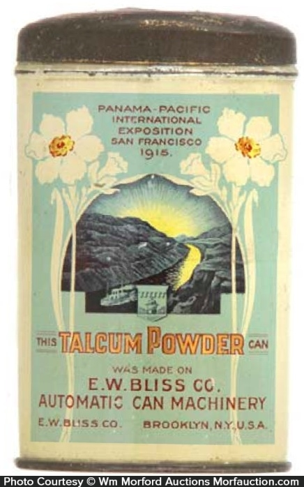 Bliss Can Machinery Talcum Sample Tin
