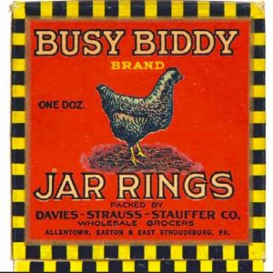 Busy Biddy Jar Rings Box