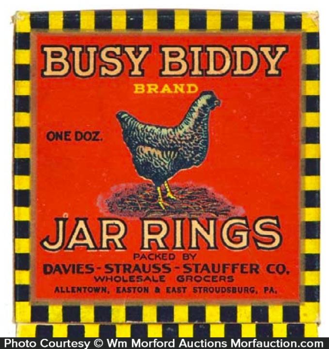 Busy Biddy Jar Rings Box