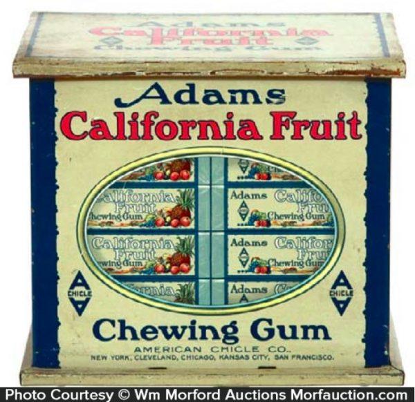 Adams California Gum Tin