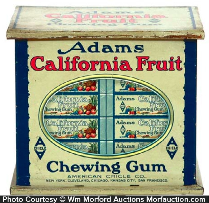 Adams California Gum Tin