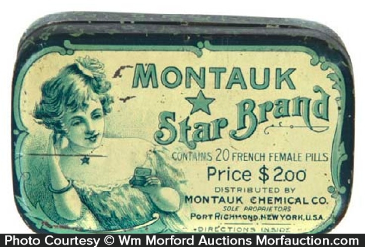 Montauk Star Brand Medicine Tin
