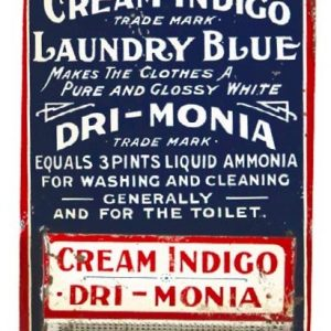 Cream Indigo Laundry Blue Match Holder