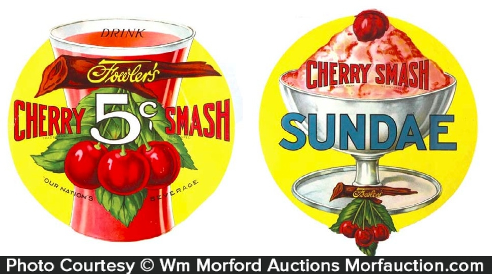 Cherry Smash Paper Signs