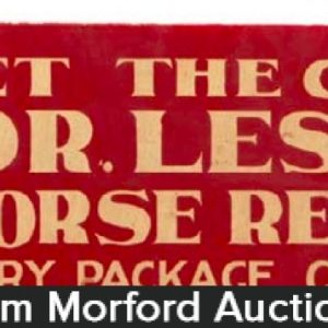 Dr. Lesure's Horse Remedies Sign