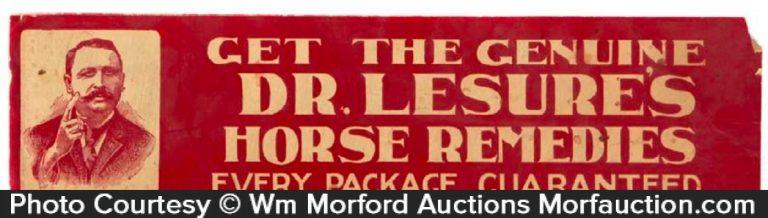 Dr. Lesure's Horse Remedies Sign