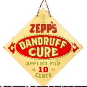 Zepp's Dandruff Cure Sign