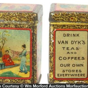 Van Dyk's Tea and Coffee Tin