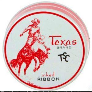 Texas Typewriter Ribbon Tin
