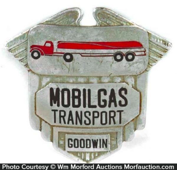 Mobilgas Transport Cap Badge