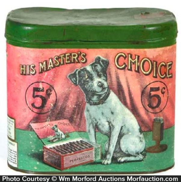 His Master's Choice Cigar Can