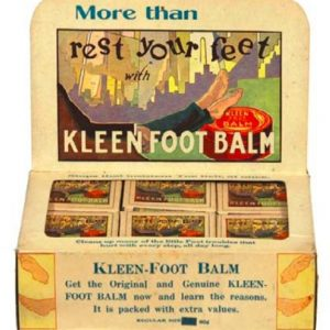 Kleen Foot Balm Display