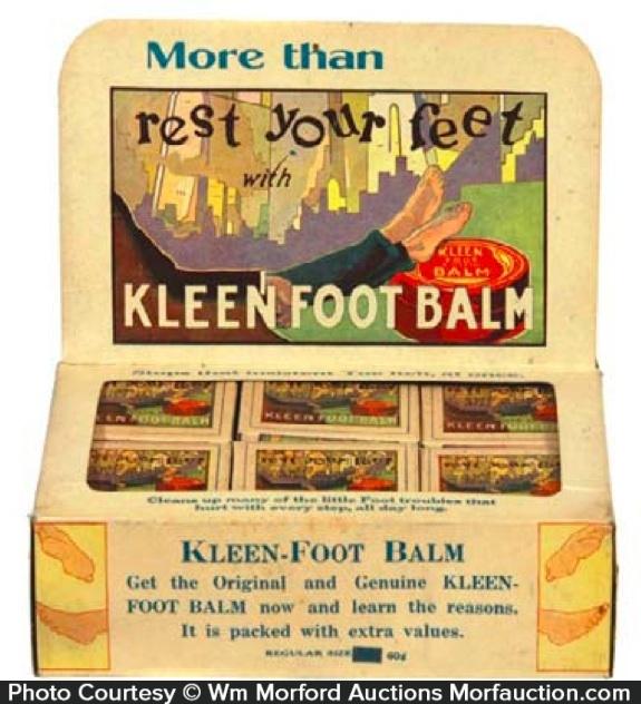 Kleen Foot Balm Display