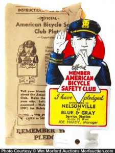 Bicycle Safety Bumper Tag