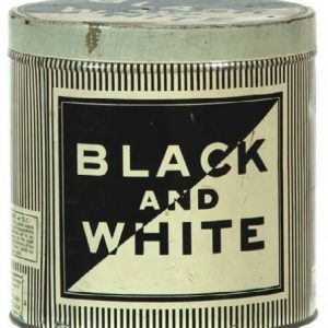 Black and White Cigar Can