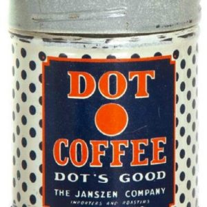 Dot Coffee Sample Can