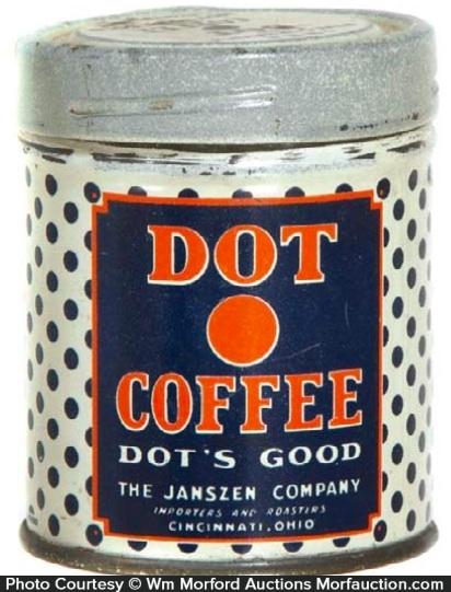 Dot Coffee Sample Can
