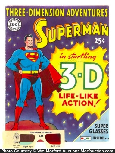Superman 3-D Comic Book