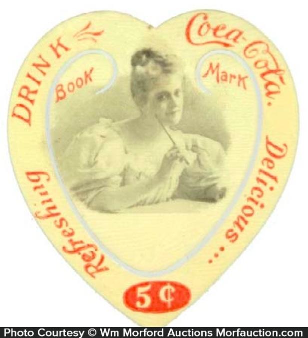 Coca-Cola Heart Bookmark