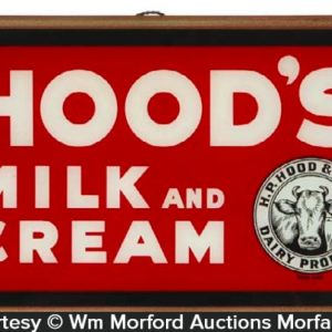 Hood's Milk and Cream Sign