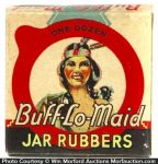 Buff-Lo-Maid Jar Rubbers Box
