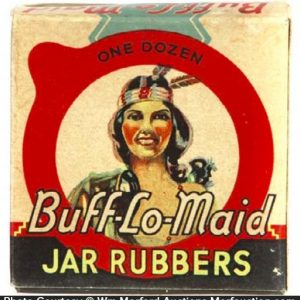 Buff-Lo-Maid Jar Rubbers Box