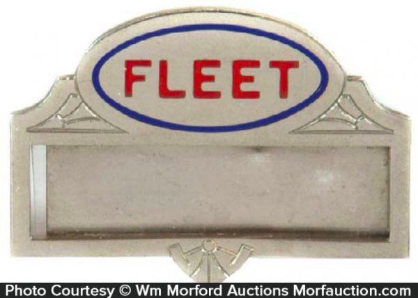 Fleet Oil Badge