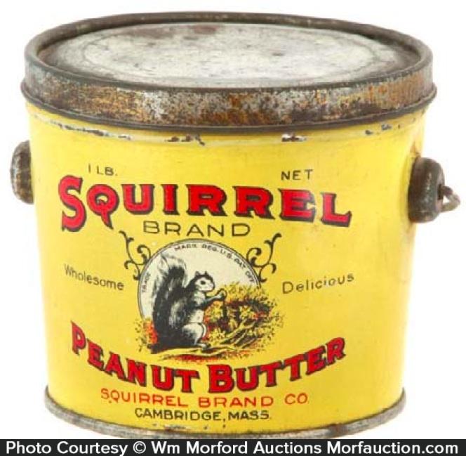 Squirrel Peanut Butter Pail