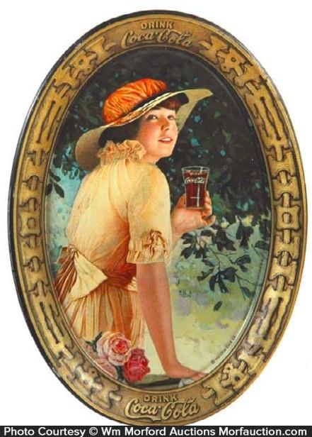 1916 Coca-Cola Elaine Tip Tray