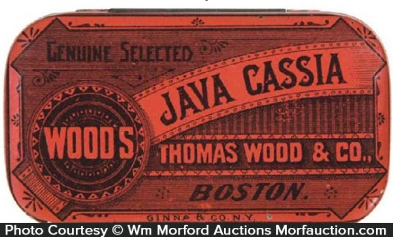 Wood's Java Cassia Coffee Tin