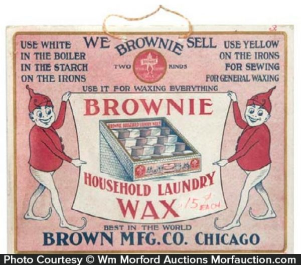Brownie Laundry Wax Sign