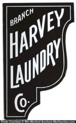 Harvey Laundry Sign