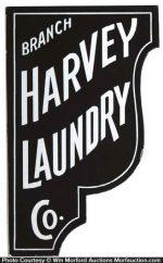 Harvey Laundry Sign
