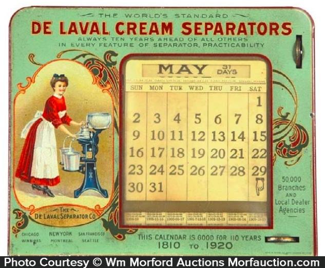 Delaval Cream Separators Calendar