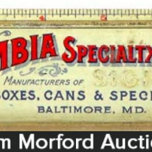 Columbia Specialty Tin Ruler