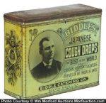 Biddles Japanese Cough Drops Tin