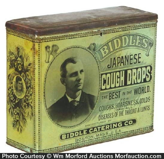 Biddles Japanese Cough Drops Tin