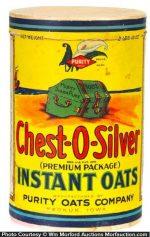 Chest-O-Silver Oats Box