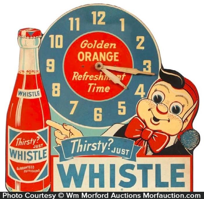 Whistle Soda Clock