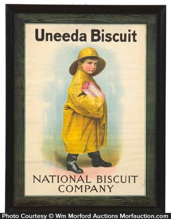Nabisco Uneeda Biscuit Sign